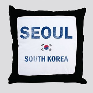 Seoul South Korea Designs Throw Pillow