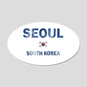 Seoul South Korea Designs 20x12 Oval Wall Decal