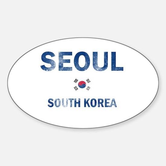 Seoul South Korea Designs Sticker (Oval)