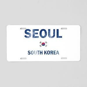 Seoul South Korea Designs Aluminum License Plate
