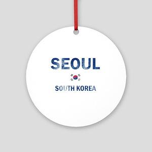 Seoul South Korea Designs Ornament (Round)