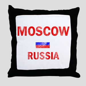 Moscow Russia Designs Throw Pillow