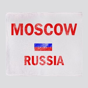 Moscow Russia Designs Throw Blanket