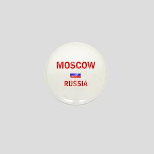 Moscow Russia Designs Mini Button