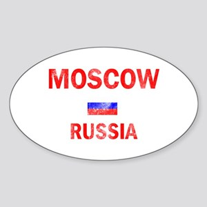 Moscow Russia Designs Sticker (Oval)