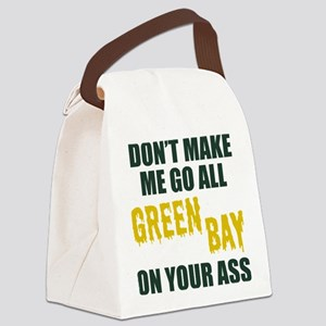Green Bay Football Canvas Lunch Bag