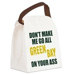 Green Bay Football Canvas Lunch Bag