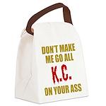 Kansas City Football Canvas Lunch Bag