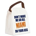 Miami Football Canvas Lunch Bag