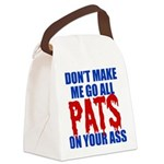 New England Football Canvas Lunch Bag