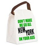 New York Football Canvas Lunch Bag