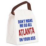 Atlanta Baseball Canvas Lunch Bag