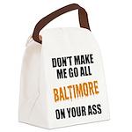 Baltimore Baseball Canvas Lunch Bag