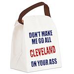 Cleveland Baseball Canvas Lunch Bag