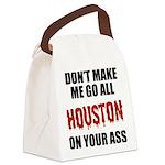 houston-baseball-red-black Canvas Lunch Bag