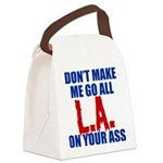 Los Angeles Baseball Canvas Lunch Bag