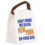 New York Baseball Canvas Lunch Bag