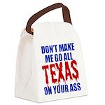 Texas Baseball Canvas Lunch Bag