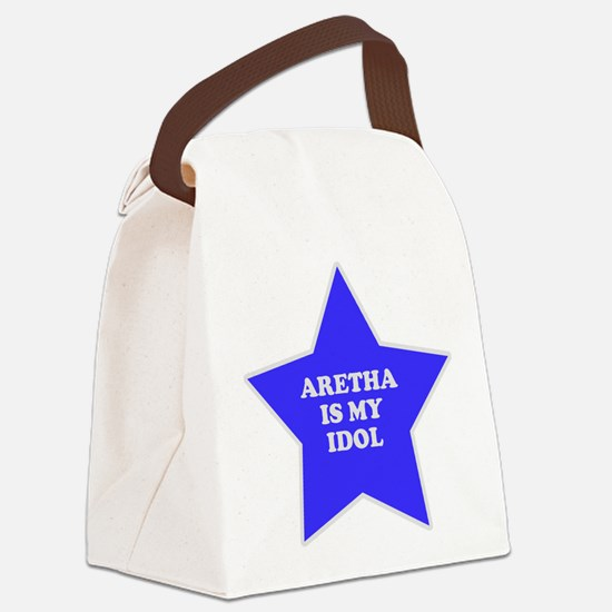 star-aretha.png Canvas Lunch Bag