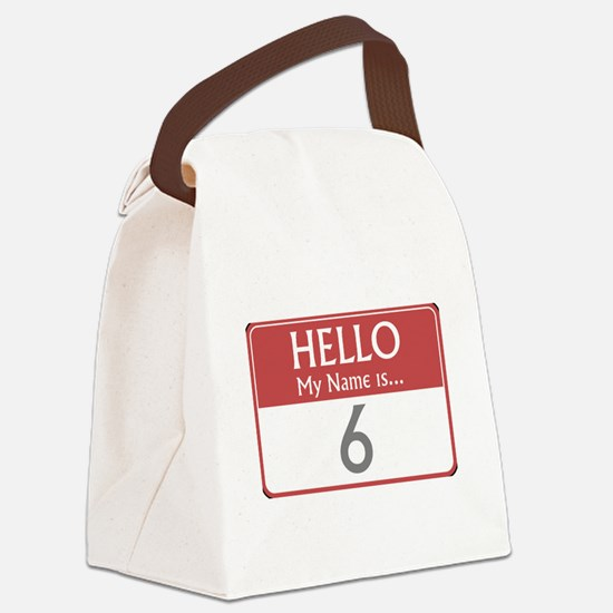 tag-6-the-prisoner-10X10.png Canvas Lunch Bag