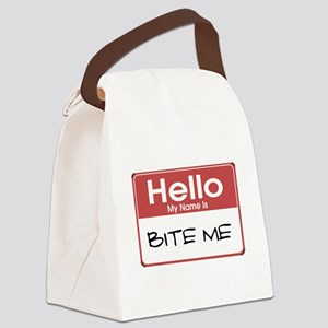 my-name-is-bite-me-10X10 Canvas Lunch Bag