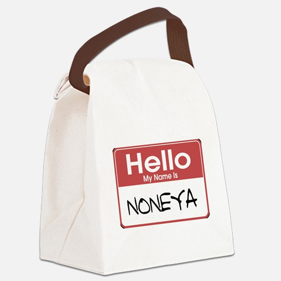 tag-noneya-10X10.png Canvas Lunch Bag