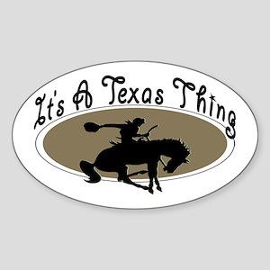 Texas Oval Sticker