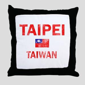 Taipei Taiwan Designs Throw Pillow