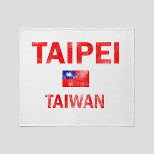 Taipei Taiwan Designs Throw Blanket