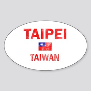 Taipei Taiwan Designs Sticker (Oval)