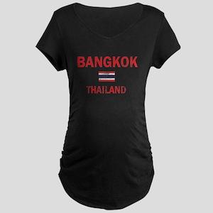 Bangkok Thailand Designs Maternity Dark T-Shirt