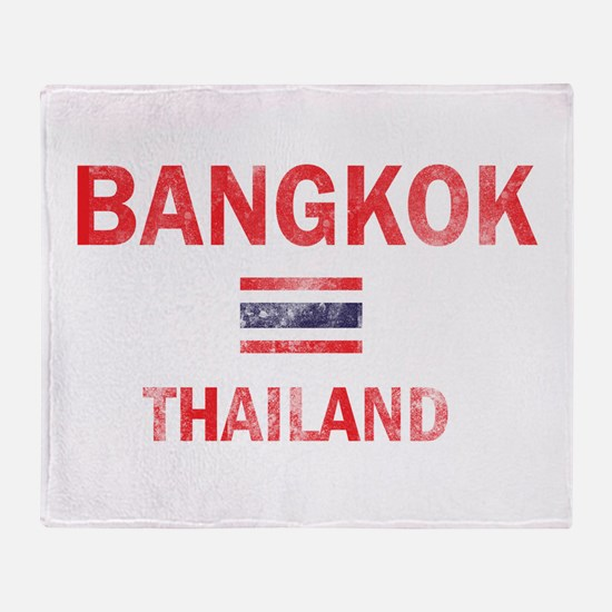 Bangkok Thailand Designs Throw Blanket