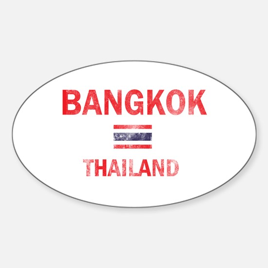 Bangkok Thailand Designs Sticker (Oval)