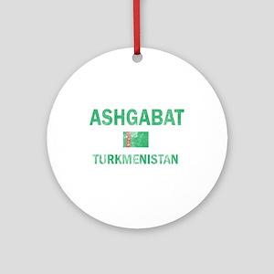 Ashgabat Turkmenistan Designs Ornament (Round)