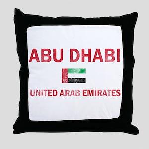 Abu Dhabi United Arab Emirates Designs Throw Pillo