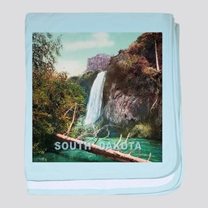 South Dakota Spearfish Falls baby blanket