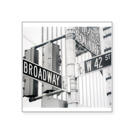 NY Broadway Times Square - Square Sticker 3&Quot;