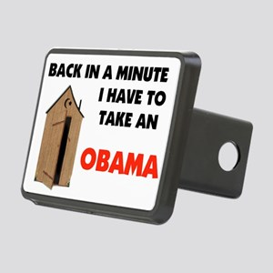 OBAMA OUTHOUSE Rectangular Hitch Cover