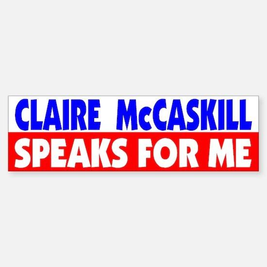 Democrat Claire McCaskill, MO Bumper Bumper Bumper Sticker