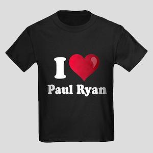 I Heart Paul Ryan Kids Dark T-Shirt