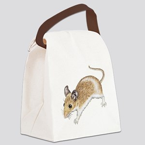 white mouse Canvas Lunch Bag