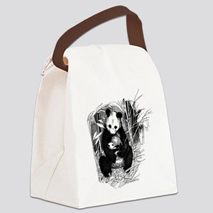 Panda and baby Canvas Lunch Bag