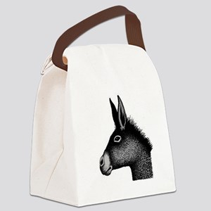 Donkey drawing Canvas Lunch Bag