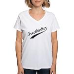 Freethinker Women's V-Neck T-Shirt