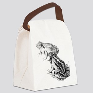 Frogs Canvas Lunch Bag