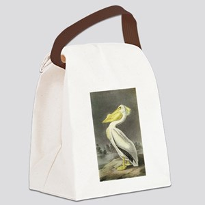 American White Pelican Canvas Lunch Bag