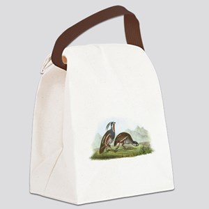 Mountain Quail Canvas Lunch Bag