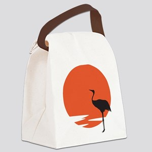 Crane bird Canvas Lunch Bag
