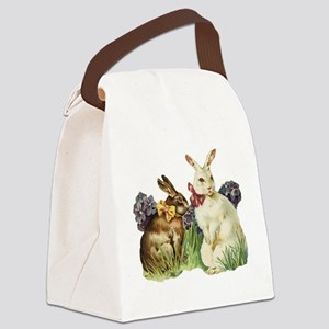 easter rabbits Canvas Lunch Bag
