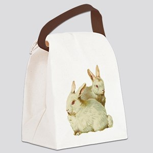 White easter rabbits Canvas Lunch Bag